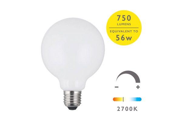 E27 Warm White 750LM Globe - Details