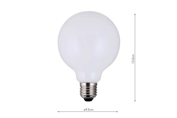 E27 Warm White 750LM Globe - Dimensions
