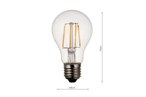 E27 Warm White 806LM GLS Smart Bulb - Dimensions