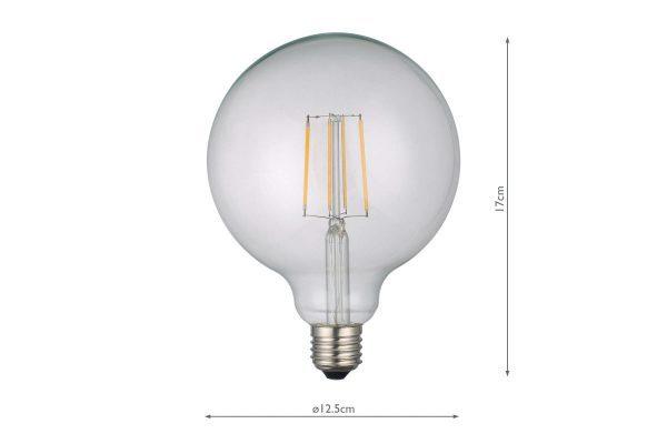 E27 Warm White 806LM Large Globe - Dimensions