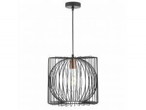 Eileen Black & Copper 1 Light Pendant