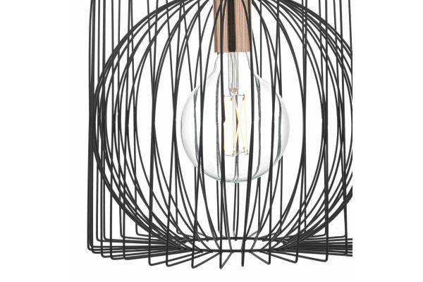 Eileen Black & Copper 1 Light Pendant Detail
