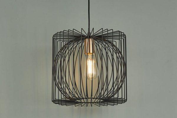 Eileen Black & Copper 1 Light Pendant Lifestyle 2