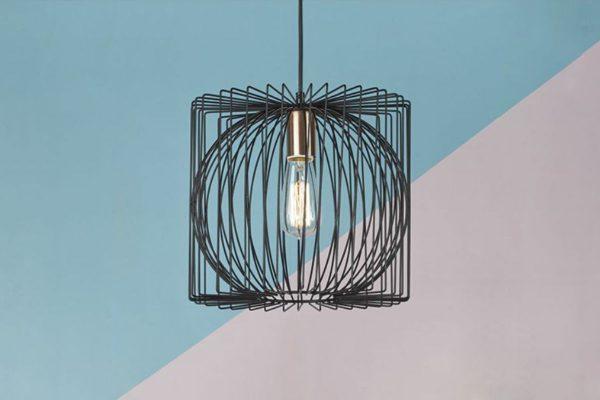 Eileen Black & Copper 1 Light Pendant Lifestyle 3