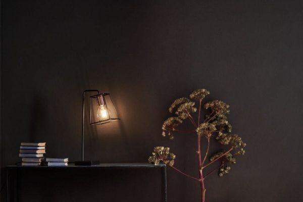 Eleanor Black & Copper Table Lamp Lifestyle