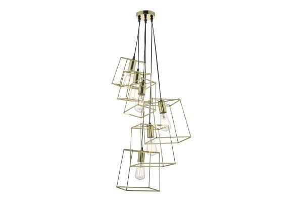 Eleanor Gold 6 Light Cluster Pendant