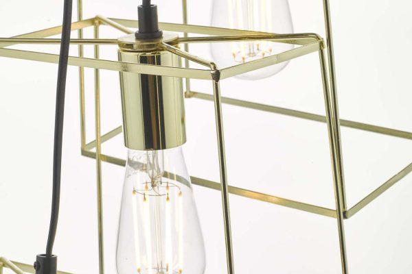Eleanor Gold 6 Light Cluster Pendant Detail