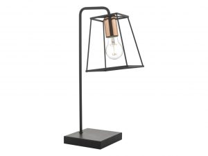 Eleanor Matte Black & Copper Table Lamp