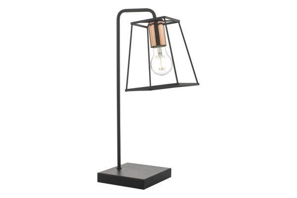 Eleanor Matte Black & Copper Table Lamp