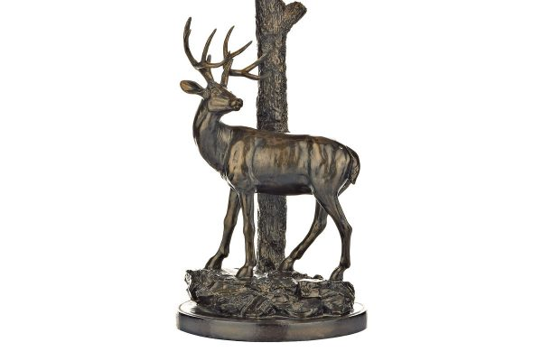 Elior Deer Table Lamp in Aged Brass
