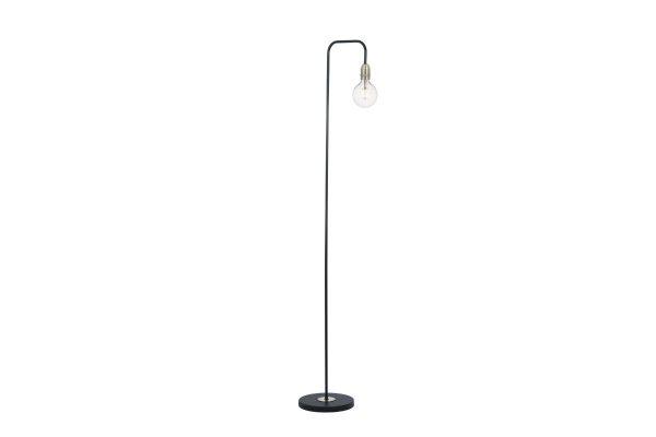 Faro Black & Antique Brass Floor Lamp