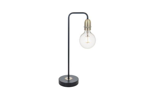 Faro Black & Antique Brass Table Lamp