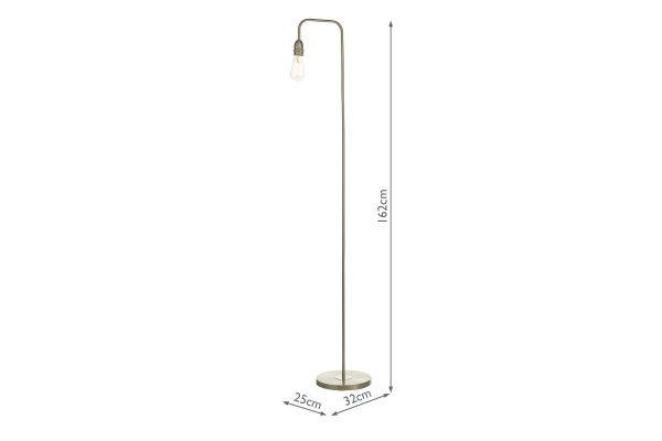 Faro Satin Chrome Floor Lamp with Measurements