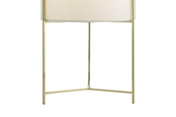 Fynn Satin Gold Table Lamp Base Detail