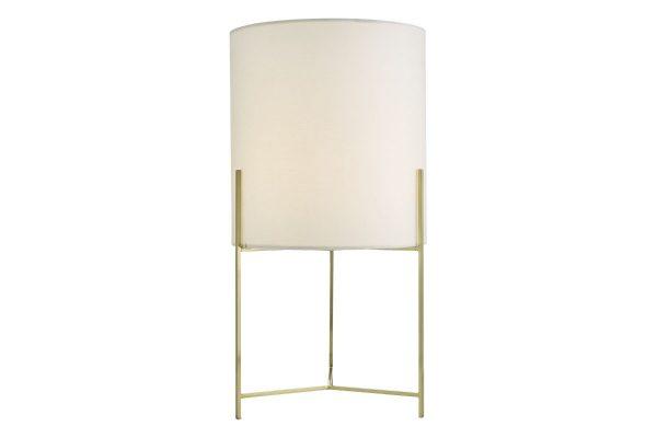 Fynn Satin Gold Table Lamp with Shade