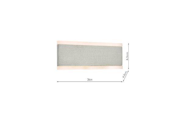 Hobbes Aluminium & Acrylic LED Wall Light Measurements