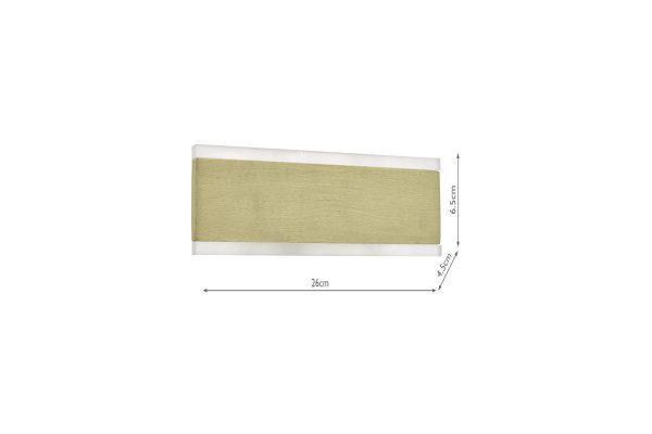 Hobbes Brushed Gold & Acrylic LED Wall Light Measurements