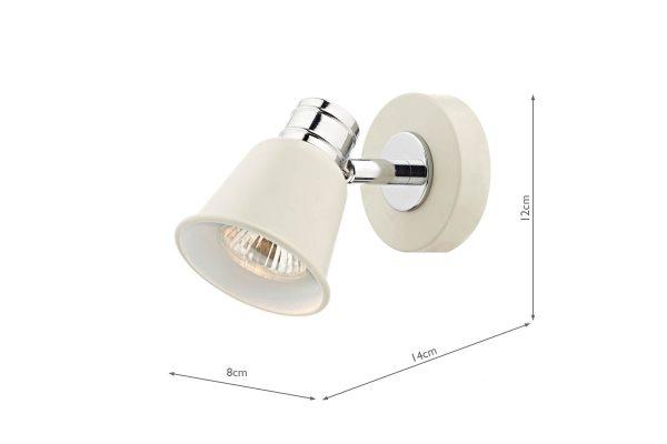 Ilka Cream 1 Light Wall Spot Measurements