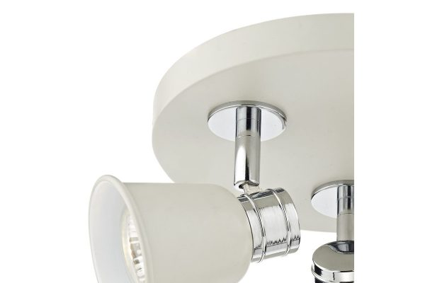 Ilka Cream 3 Light Round Plate Spot Fixing Plate Detail