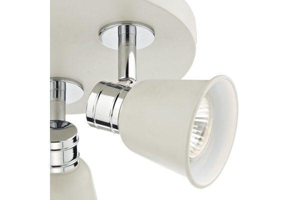 Ilka Cream 3 Light Round Plate Spot Lamp Detail