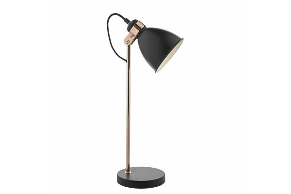 Kiran Black & Copper Task Lamp