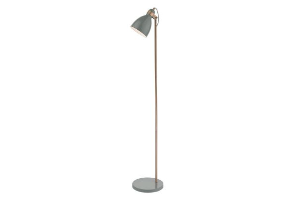 Kiran Grey & Copper Floor Lamp