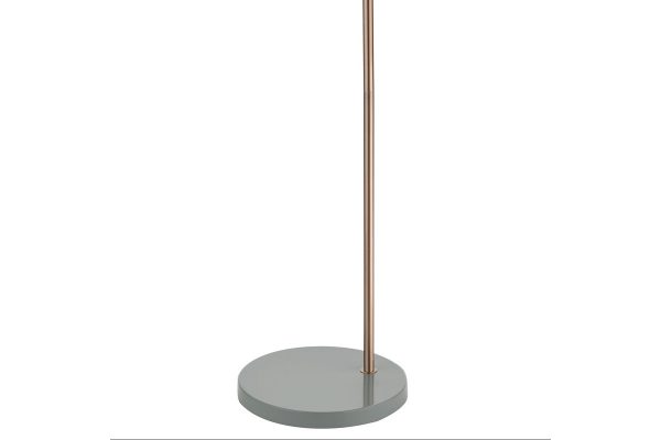 Kiran Grey & Copper Floor Lamp Base