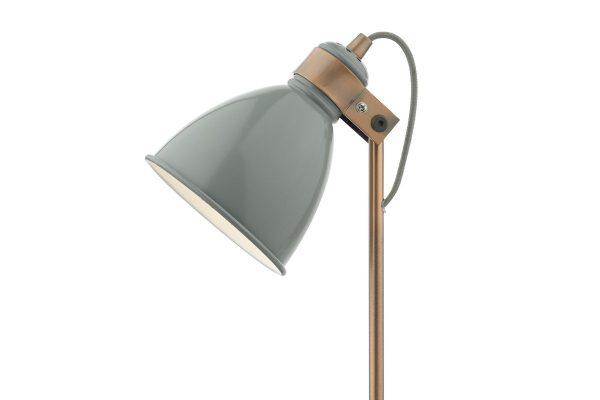 Kiran Grey & Copper Task Lamp Detail