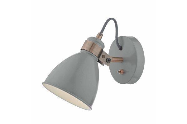 Kiran Grey & Copper Wall Light