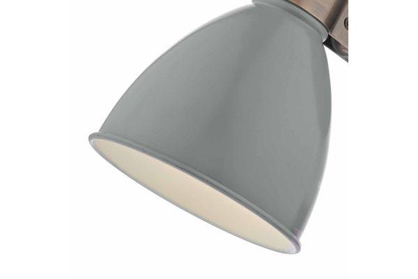 Kiran Grey & Copper Wall Light Closeup