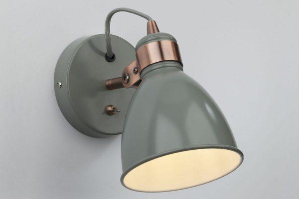 Kiran Grey & Copper Wall Light Lifestyle