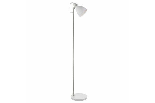 Kiran White & Satin Chome Floor Lamp