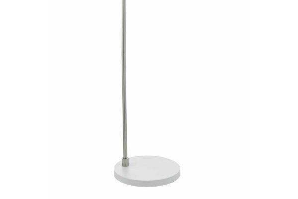 Kiran White & Satin Chome Floor Lamp Base