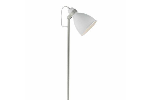Kiran White & Satin Chome Floor Lamp Detail
