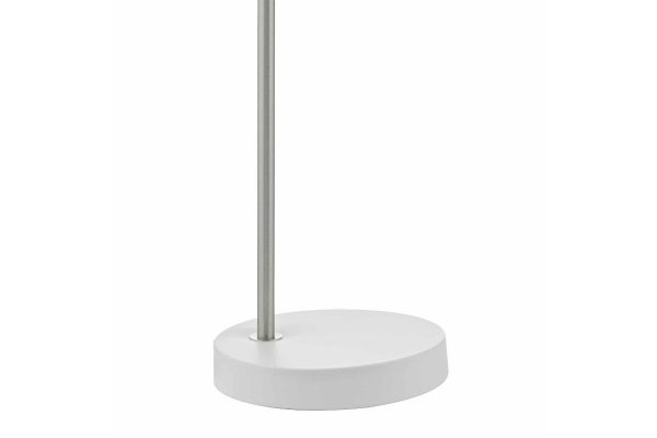 Kiran White & Satin Chome Task Lamp Base