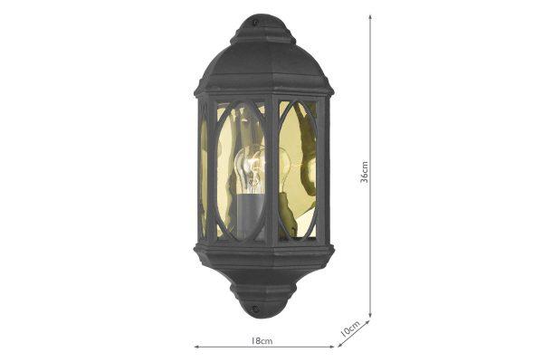 Lito IP43 Outdoor Wall Light Measurements