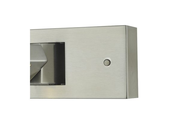 Luca Satin Chrome LED Wall Light Button Switch
