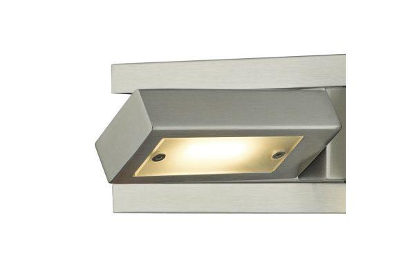 Luca Satin Chrome LED Wall Light Detail