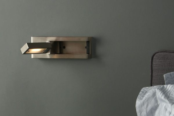 Luca Satin Chrome LED Wall Light Lifestyle