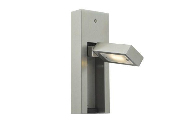 Luca Satin Chrome LED Wall Light Vertical