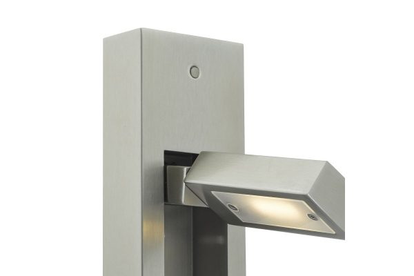 Luca Satin Chrome LED Wall Light Vertical Detail