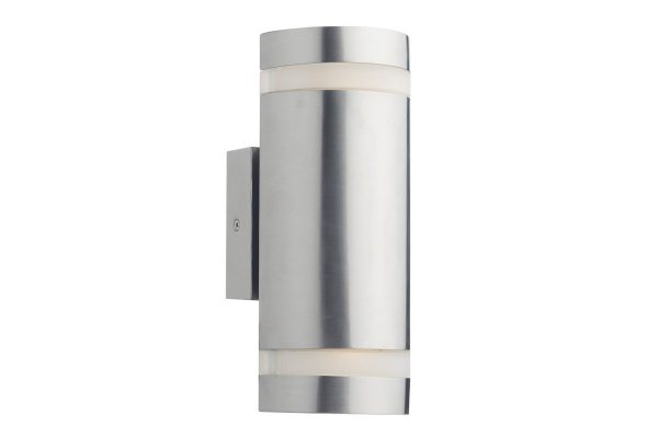 Meyer IP44 stainless steel 2 light cylinder Wall Light