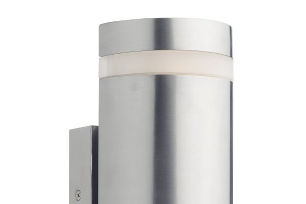 Meyer IP44 stainless steel 2 light cylinder Wall Light Detail