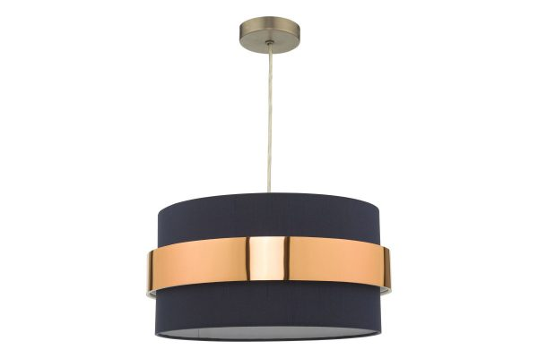 Navy Blue with Copper Band Easy Fit Shade Off