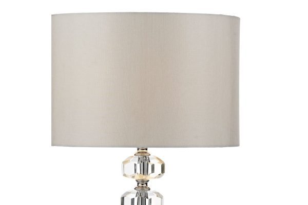 Nera Polished Chrome Crystal Table Lamp Shade