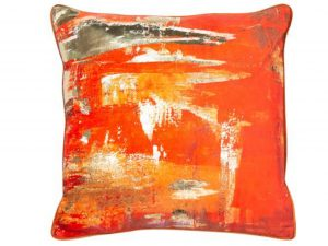 orange sunshine cushion
