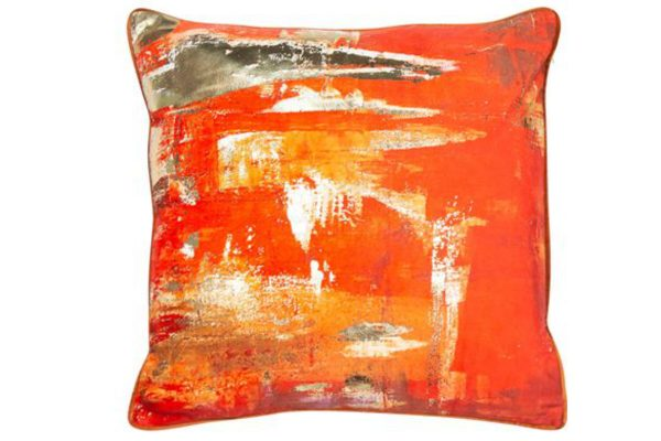 orange sunshine cushion
