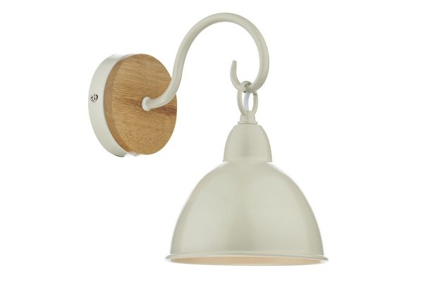 Oran 1 Light wall light with Painted Shade