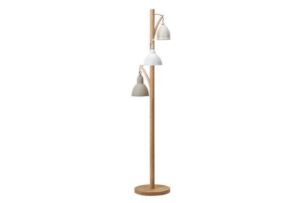Oran 3 Light Floor Lamp with Painted Shades