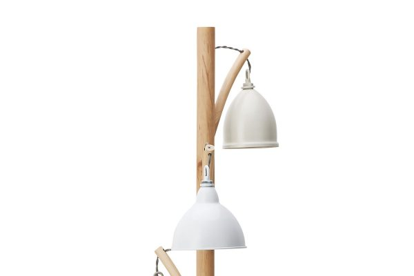 Oran 3 Light Floor Lamp with Painted Shades Close